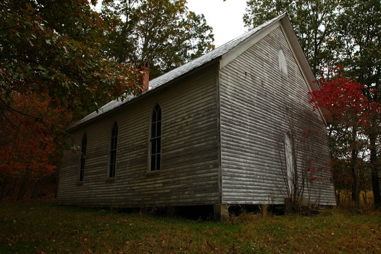 Autumn Old Country Church wv Fall Trees Foliage