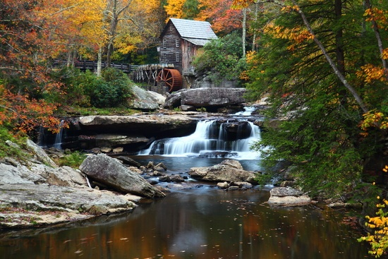 West Virginia Autumn Grist Mill Fall Foliage