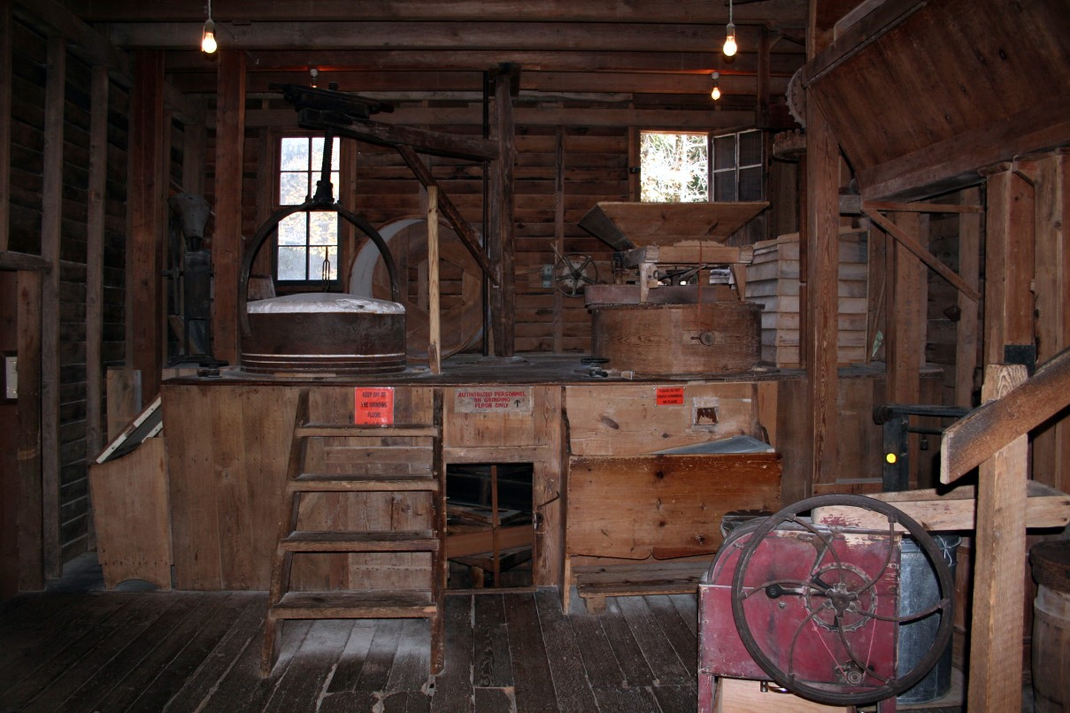 Inside Grist Mill Structures Free Nature Pictures By