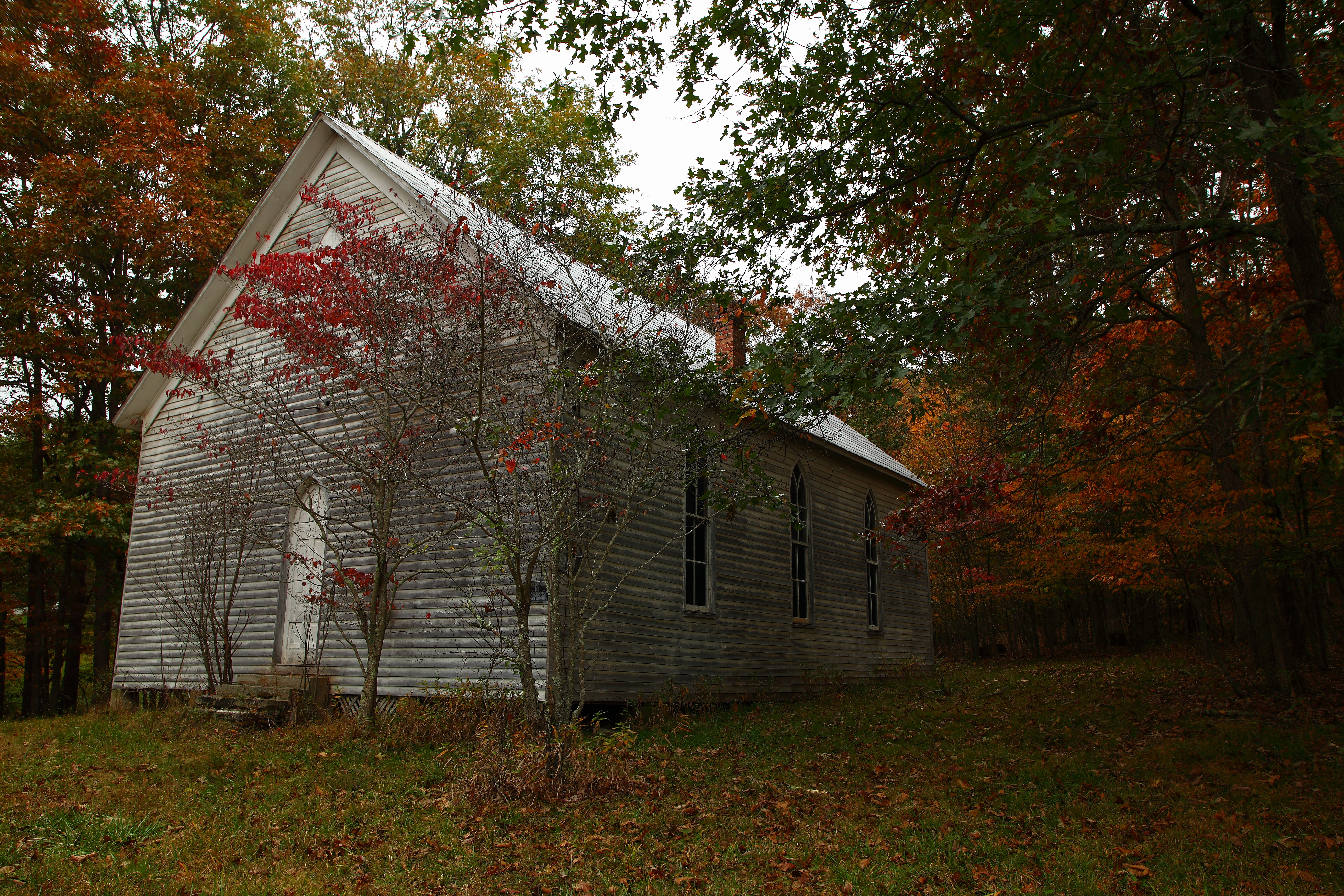 Https Www Forestwander Com 2009 10 Abandoned Old Country Church Autumn Wv