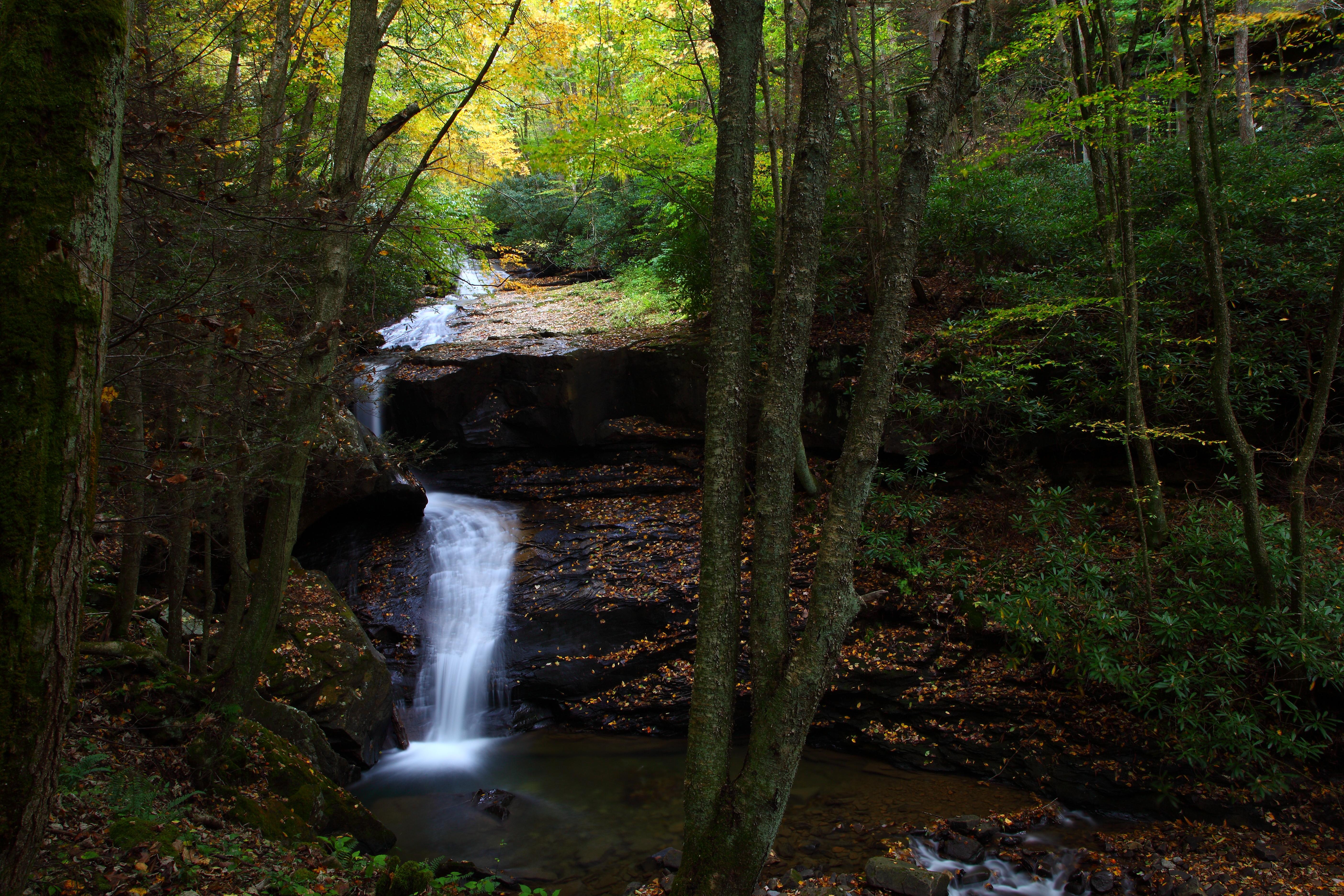 Autumn Waterfall Cliffside West Virginia Waterfalls Free
