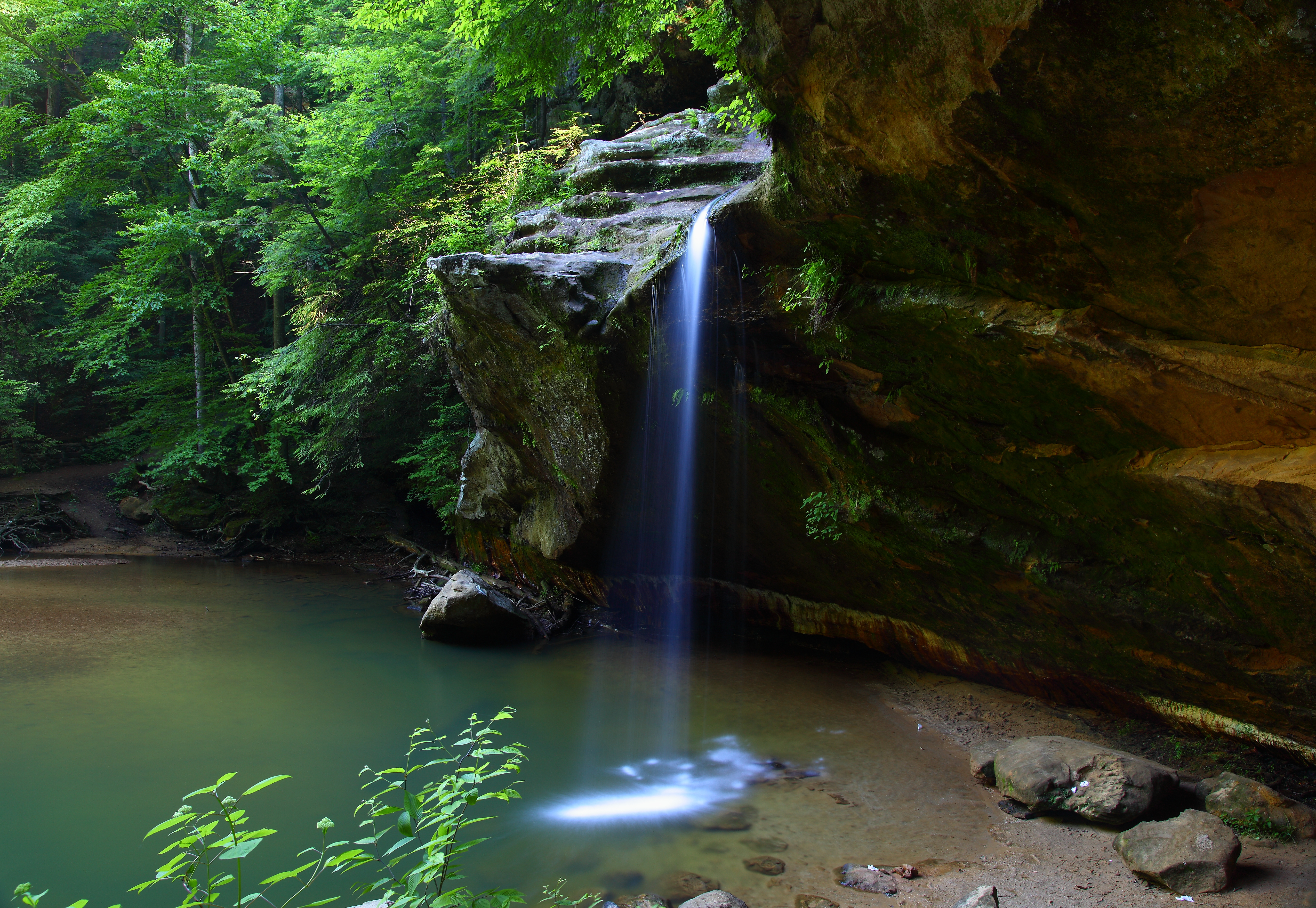 Lower Waterfalls side view Old Mans Cave Ohio | Waterfalls| Free ...